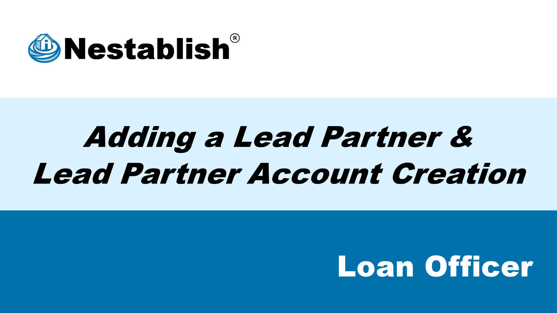 lead partner account creation placeholder